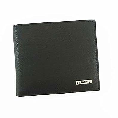 【renoma】レノマ メンズ 二つ折り財布 サイフ [REM16/BLACK]