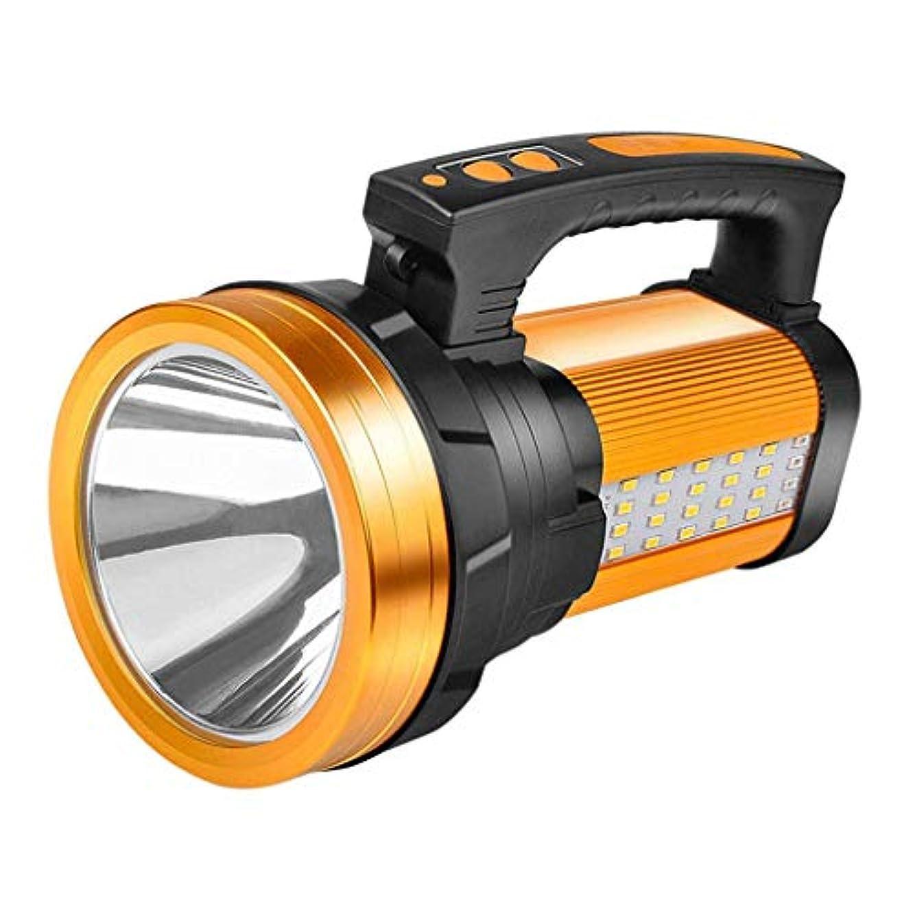 肥沃な軌道程度XIAOBUDIAN 高輝度充電式LEDスポットライト懐中電灯ハンドヘルドT6サーチライト10000Mah長持ち、サイドフラッドライト作業灯キャンプ用ランタンUSB充電式電話