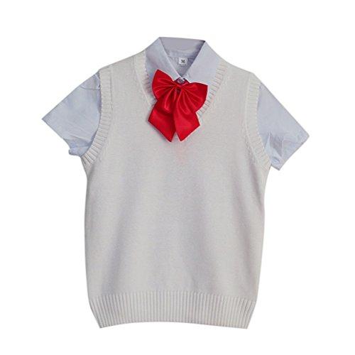 BESTLEEベスト全9色スクールベスト制服ベストニットベストVネック高校生JK女子かわいい白S