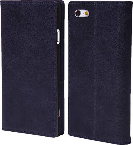 steady advance 最高級 本革 (牛革) iPhone6 iPhone6s アイフォン6 用 スマホ ケース 手帳型  硬度 9H 強化 ガラスフィルム  セット マグネット式 ソフトレザー (iPhone 6s, スマルトブルー)