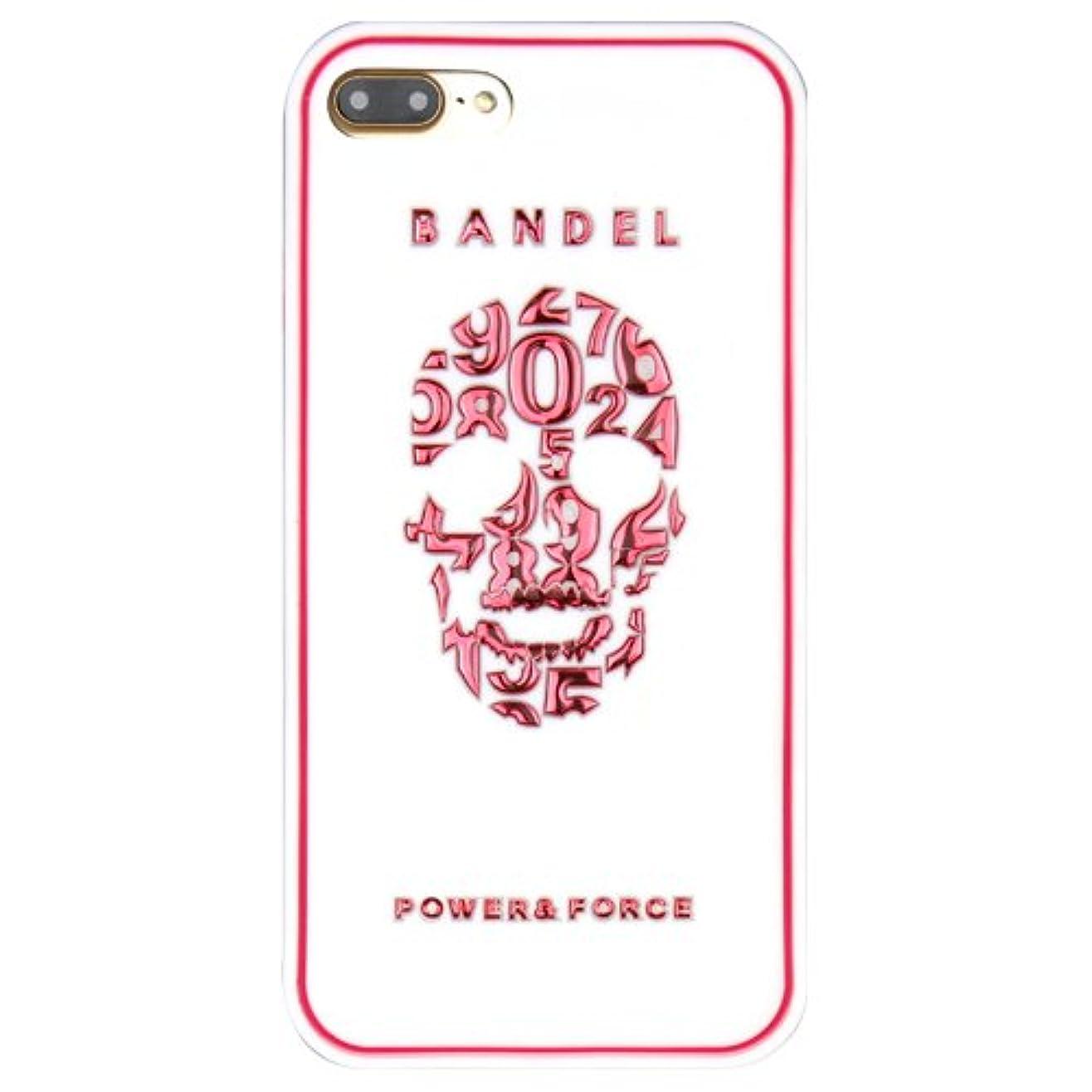 更新する外交国家バンデル(BANDEL) iPhone7Plusケース スカル ホワイト×ピンク [iPhone7Plus用シリコンケース]