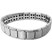 Mehrunnisa Stainless Steel Magnetic Link Bracelet (JWL2790)