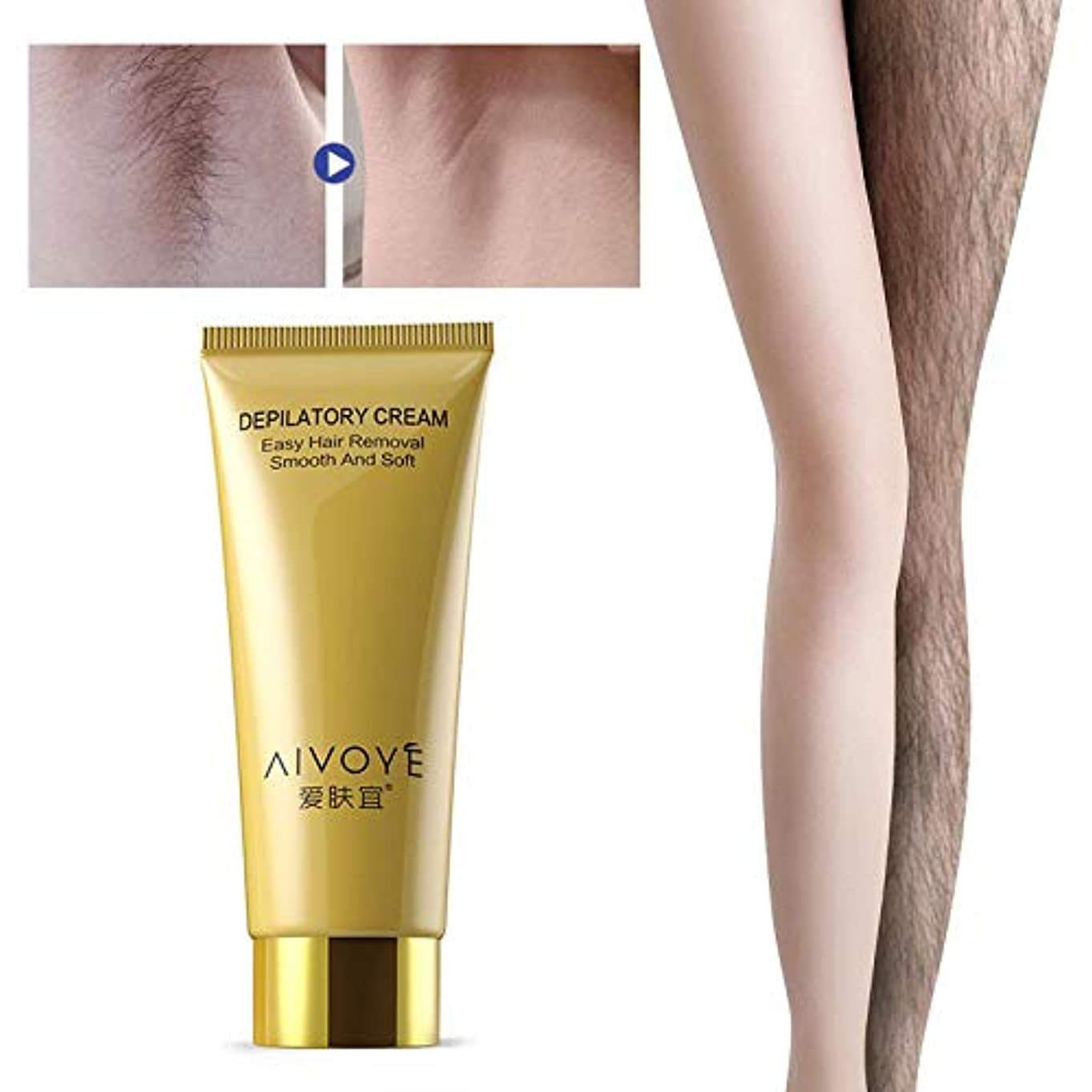 秘書部屋を掃除するピービッシュRabugoo 60g男性女性安全な痛みを抑える脱毛クリーム脚の体のための滑らかな肌の脱毛クリーム