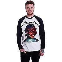 (メタリカ) Metallica メンズ トップス 長袖Tシャツ Hardwired Album Cover White/Black Longsleeve [並行輸入品]