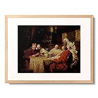 Linderum, Richard,1851 - 「Kardinal und Monche beim Studium.」 額装アート作品