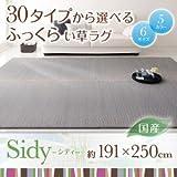 IKEA・ニトリ好きに。30タイプから選べる国産ふっくらい草ラグ【Sidy】シディ 191×250cm | グリーン