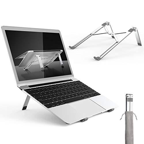 VssoPlor ノートパソコンスタンド PCスタンド 折り畳み式 パソコンスタンド PCホルダー アルミ合金製 軽量 放熱対策 角度調整可能 姿勢改善 PC/MacBook Air/MacBook Pro/ラップトップ/iPad/kindle/タブレットに対応でき