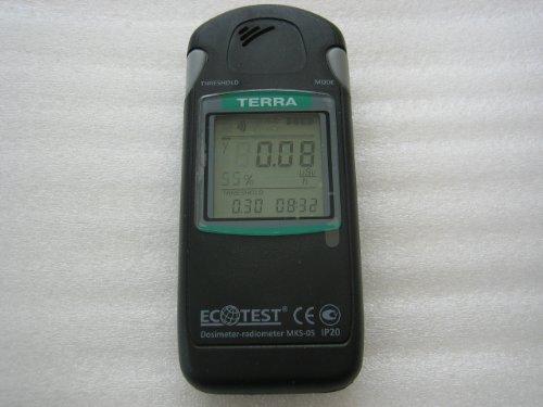 大型液晶【放射線測定器】TERRA MKS-05 with Bluetooth channel