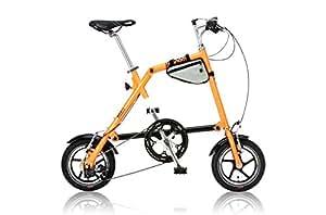 NANOO(ナノー) 折りたたみ自転車 12インチ シマノ7段変速 オレンジ [ライト/専用輪行バッグ/フレームバッグ付属] FD-1207
