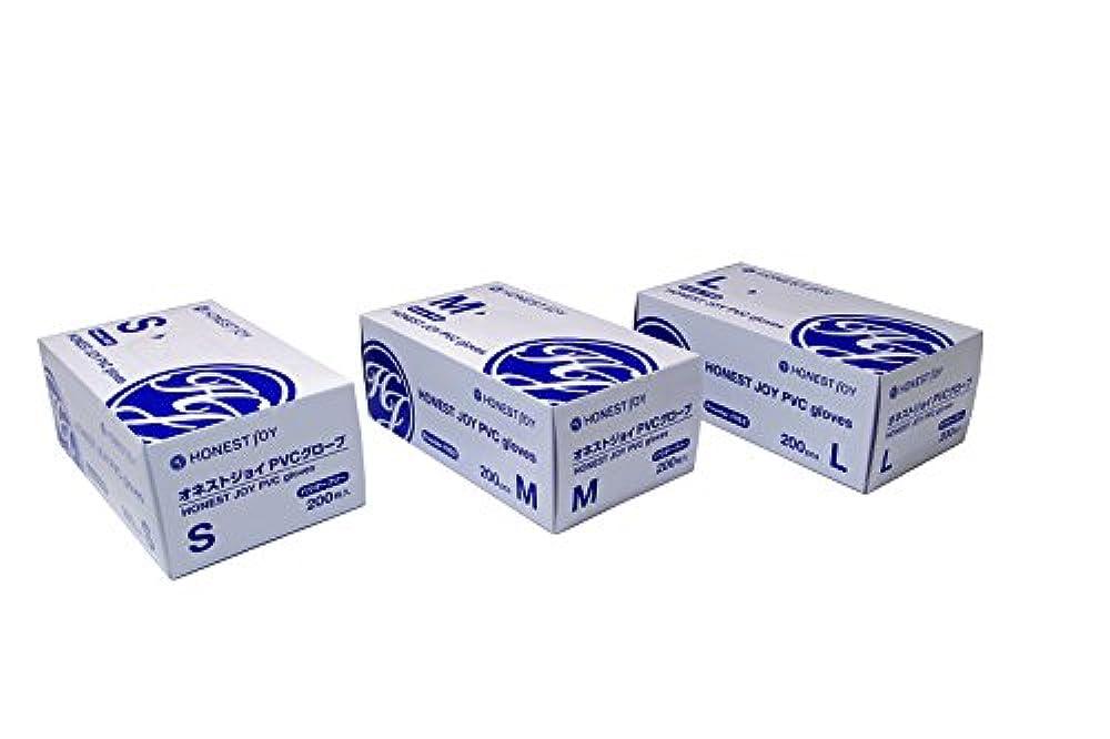 国勢調査未接続会うオネストジョイ PVC グローブ パウダーフリー Mサイズ 1箱200枚入り