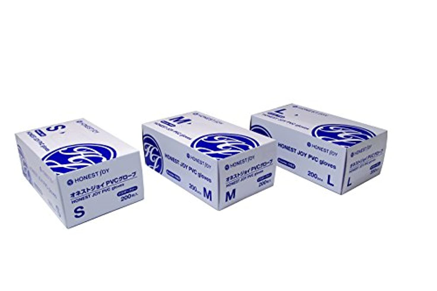 シチリア睡眠複数オネストジョイ PVC グローブ パウダーフリー Lサイズ 1箱200枚入り