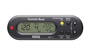 KORG コルグ 温度・湿度計付きポータブル・メトロノーム Humidi-Beat HB-1J-BK ブラック