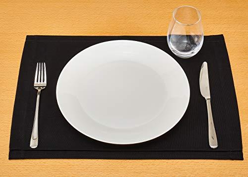 ランチョンマット ブルーミング中西 デリシャスカラー 撥水加工 (日本製) 長方形 無地 [お手入れ簡単] テーブルマット トリュフ (黒) 32×45cm 90