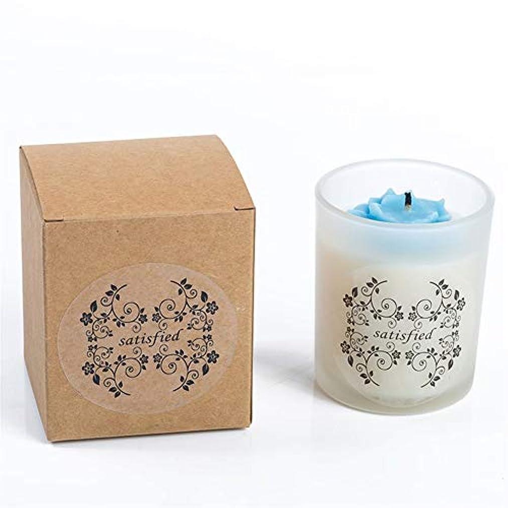 湖好意的ドループACAO 小さなバラの香りのキャンドルつや消しガラス無煙大豆キャンドル (色 : Night scent)