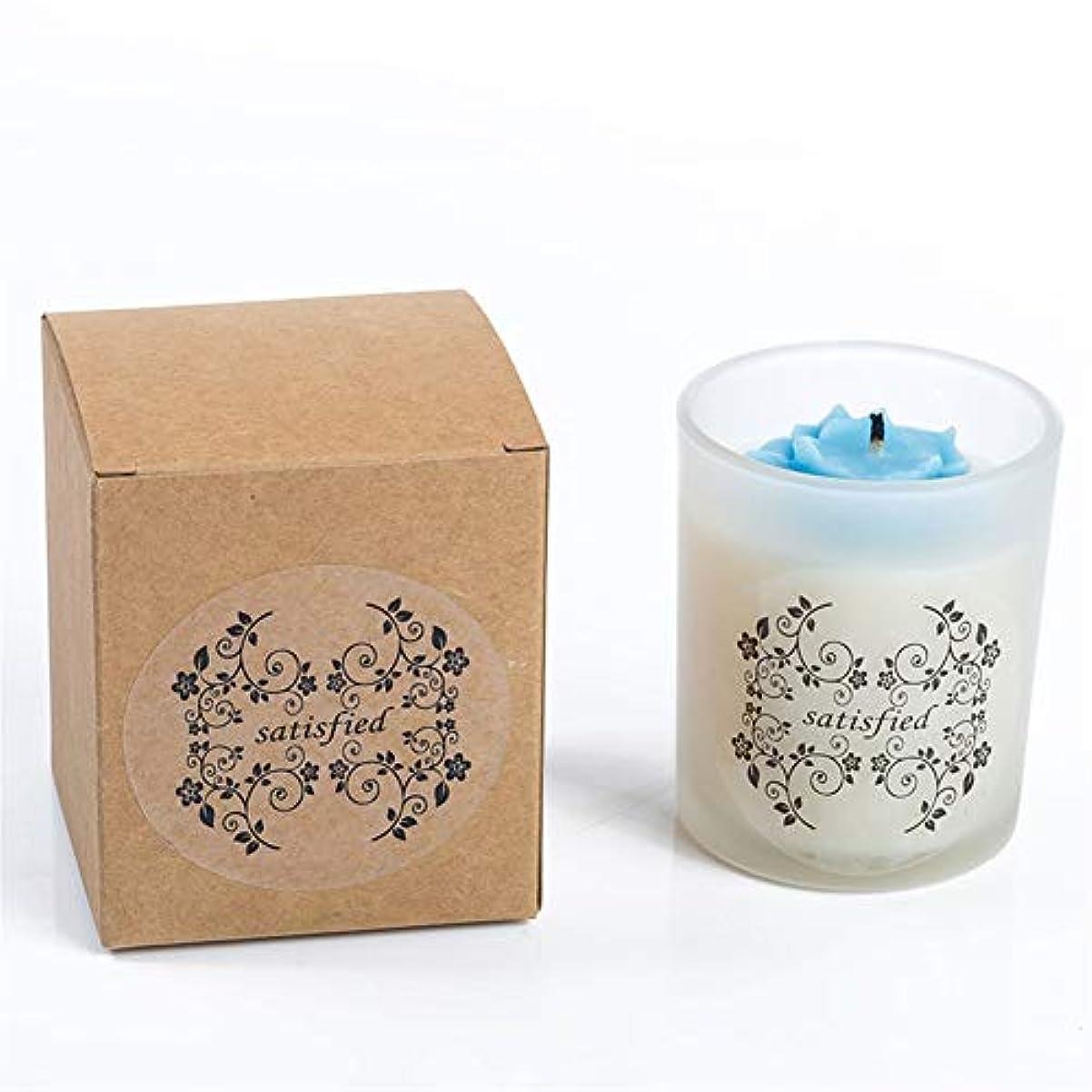冷蔵庫名詞指標Guomao 小さなバラの香りのキャンドルつや消しガラス無煙大豆キャンドル (色 : Night scent)