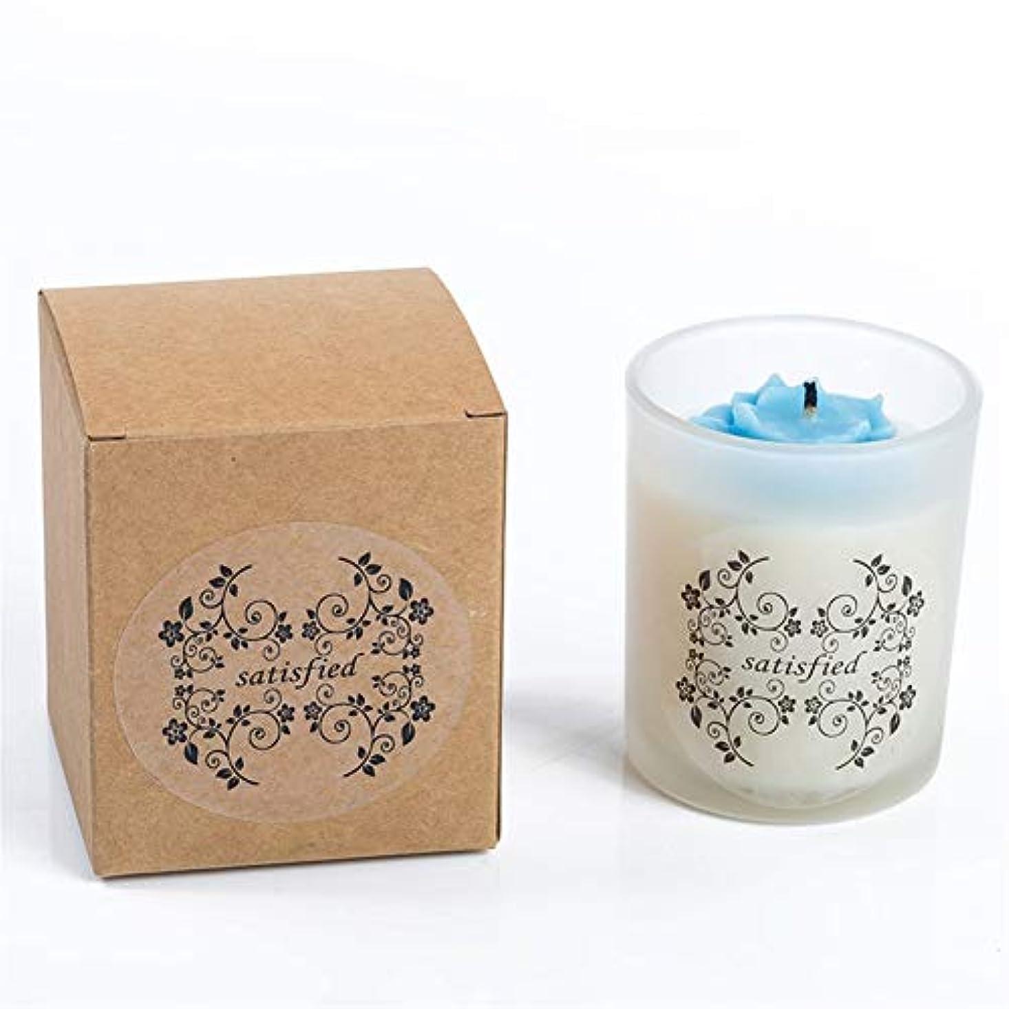魔術思われるおめでとうACAO 小さなバラの香りのキャンドルつや消しガラス無煙大豆キャンドル (色 : Night scent)