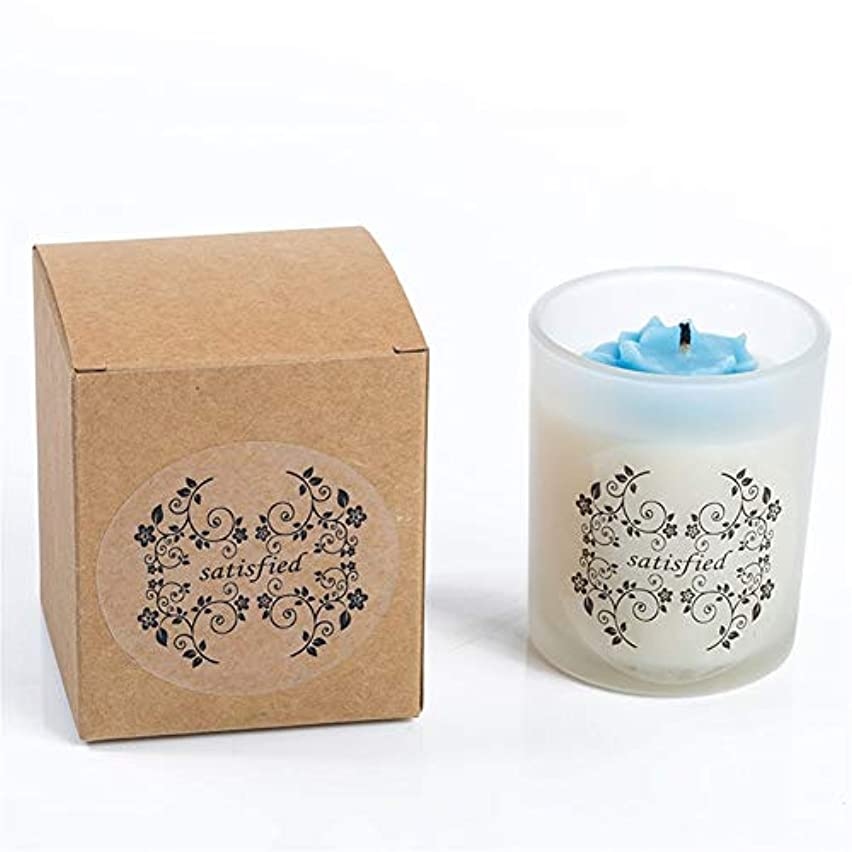有効アスレチックわがままGuomao 小さなバラの香りのキャンドルつや消しガラス無煙大豆キャンドル (色 : Night scent)