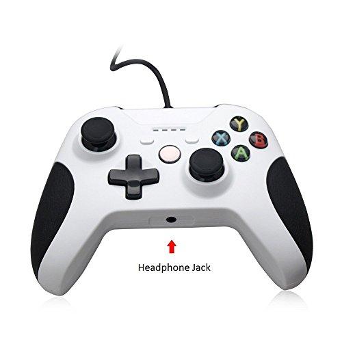 PowerLeaad 有線XBox Oneコントローラー有線代替ゲームパッドXBox OneとWindows PCに対応