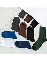 ソックス 靴下 LCLEBM メンズソックス ビジネスソックス ストレッチソックス スポーツソックス ミドル丈 ミックス 綿 抗菌 防臭 吸水 7色7足セット
