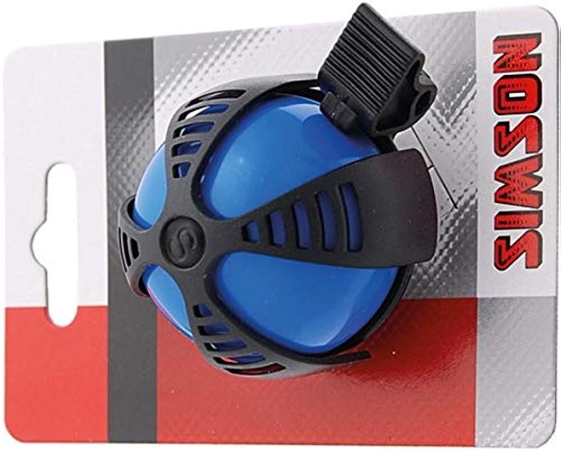 事実上フェデレーション踏みつけSIMSON 自転車ベル ジョイ ブルー&ブラック スポーティーなデザイン カラフルカラー 付属リングで簡単装着 クリアートーン 021218