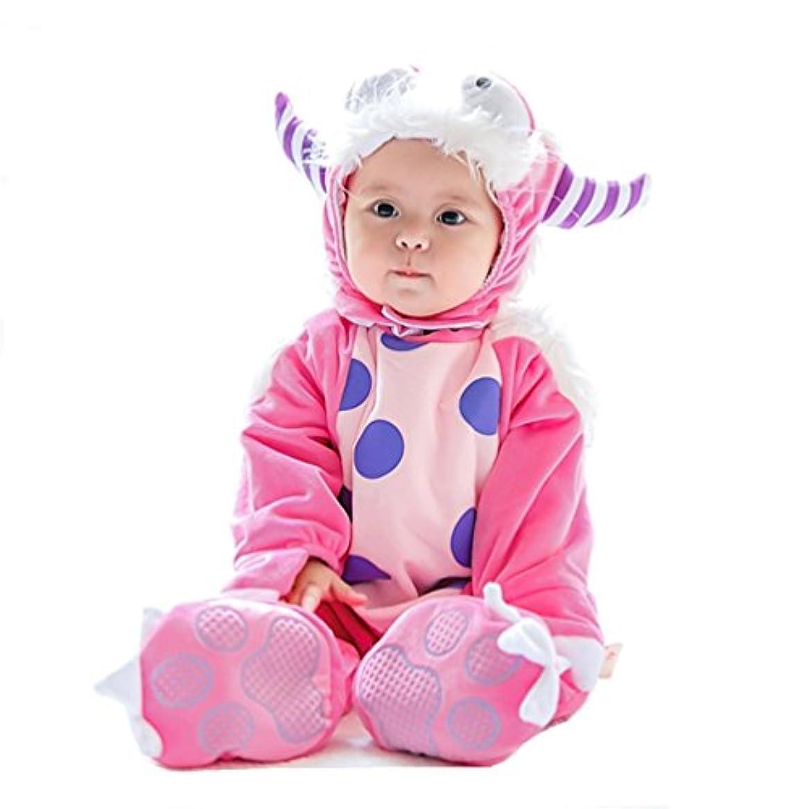 お誕生日スリップ恩恵ベビー 着ぐるみ ロンパース Yeezii 動物 もこもこ カバーオール かわいい キッズ コスチューム 防寒着 男の子 女の子 出産祝い パーティー ハロウィン クリスマス (90cm)