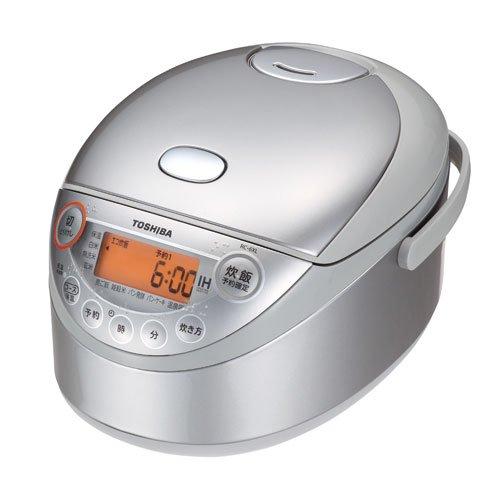 東芝 IHジャー炊飯器(3.5合炊き) シルバーTOSHIBA 備長炭鍛造かまど釜 RC-6XL-S