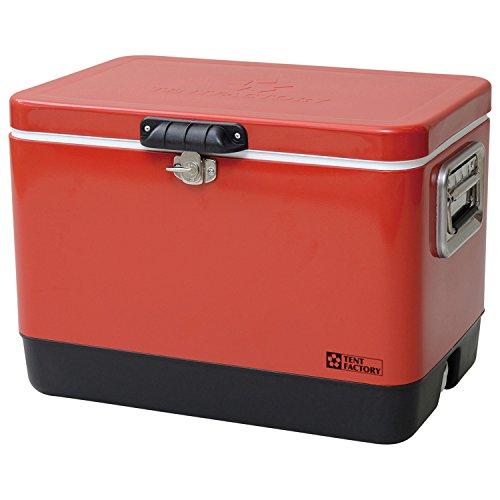 テントファクトリー クーラーボックス メタルクーラー スチール ボックス 51L RED レッド メタルハンドル/ドレンプラグ 標準装備 TF-MBM51(RE)
