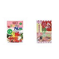 [2点セット] 天領食品 野菜だけのカレー 【甘口】 (1食分)・梅抹茶[大](24袋)