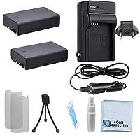 2d-li109バッテリー、AC / DCターボ充電器旅行アダプター、an ecostconnection完全キットfor Pentax K - s2K500K - 50K - 30K - rデジタル一眼レフカメラ