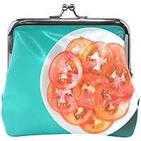 がま口 財布 口金 小銭入れ ポーチ トマト 写真 Jiemeil バッグ かわいい 高級レザー レディース プレゼント ほど良いサイズ