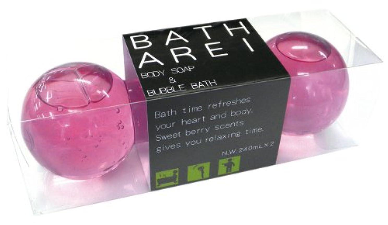 昼寝拍手するノルコーポレーション バブルバス&ボディソープ ダンベル バスアレイ ストロベリーの香り OB-ARE-2-2