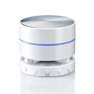 サンワダイレクト Bluetoothスピーカー 防水 ワイヤレススピーカー 小型 iPhone スマートフォン iPad 対応 Bluetooth4.0 ホワイト 400-SP040WPW