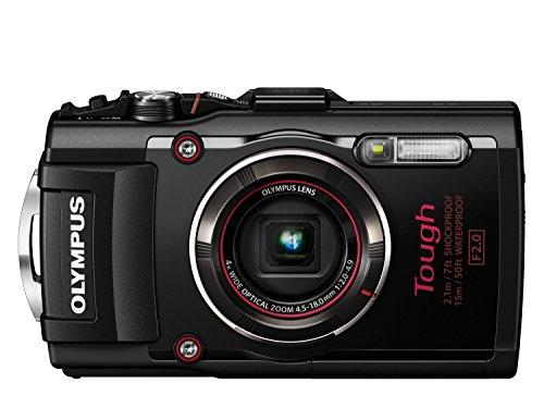 OLYMPUS デジタルカメラ STYLUS TG-4 Tough ブラック 1600万画素CMOS F2.0 15m 防水 100kgf耐荷重 GPS 電子コンパス&内蔵Wi-Fi TG-4 BLK