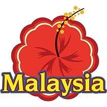 トラベルステッカー マレーシアA 旅行シール~スーツケース・タブレットPCに