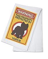 Yorkie–警告 Cotton Towel LANT-85420-TL