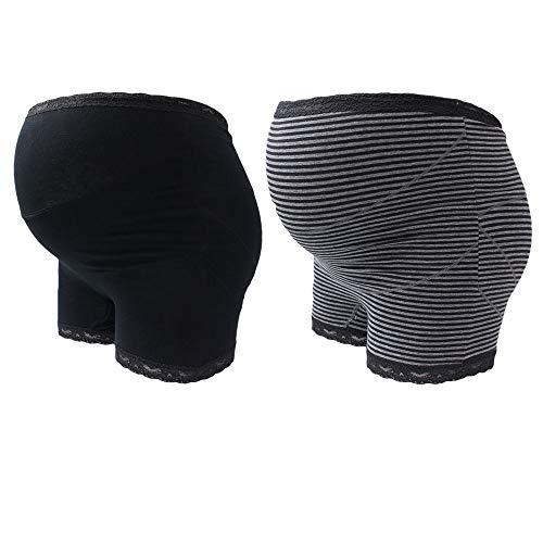 妊婦帯パンツ 妊婦帯 マタニティ ガードル 産前ガードルタイプ パンツタイプ 腰痛緩和 冷房対策 (2枚入, M)