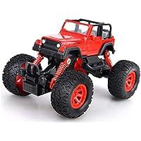 OWIKAR プルバックカー 合金ダイカストトラックレースカーバギー機能 おもちゃの車 子供の幼児のパーティーの記念品 ダイカスト車のおもちゃ遊び レッド
