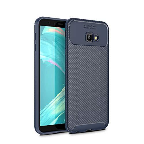 Samsung Galaxy J4 Plus 2018 シェル - Moonmini スリム シェル [ バックシェル ] 〜と ディフェンダーカバーケース ドロッププロテクション の Samsung Galaxy J4 Plus 2018 (Dark Blue)