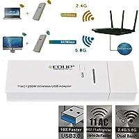 FidgetGear 802.11 AC 1200M 2.4G / 5.8GデュアルバンドサポートSuperSpeed Usb 3.0ワイヤレスアダプタ