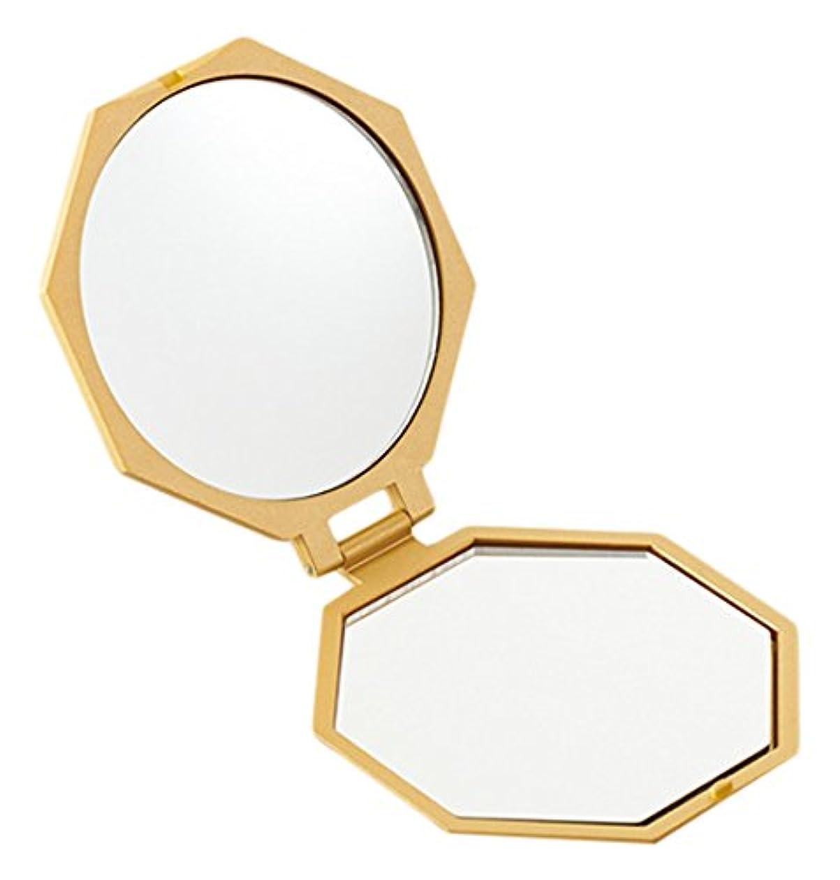 原油褐色チャールズキージングアイメディア 10倍拡大鏡コンパクト八角ミラー