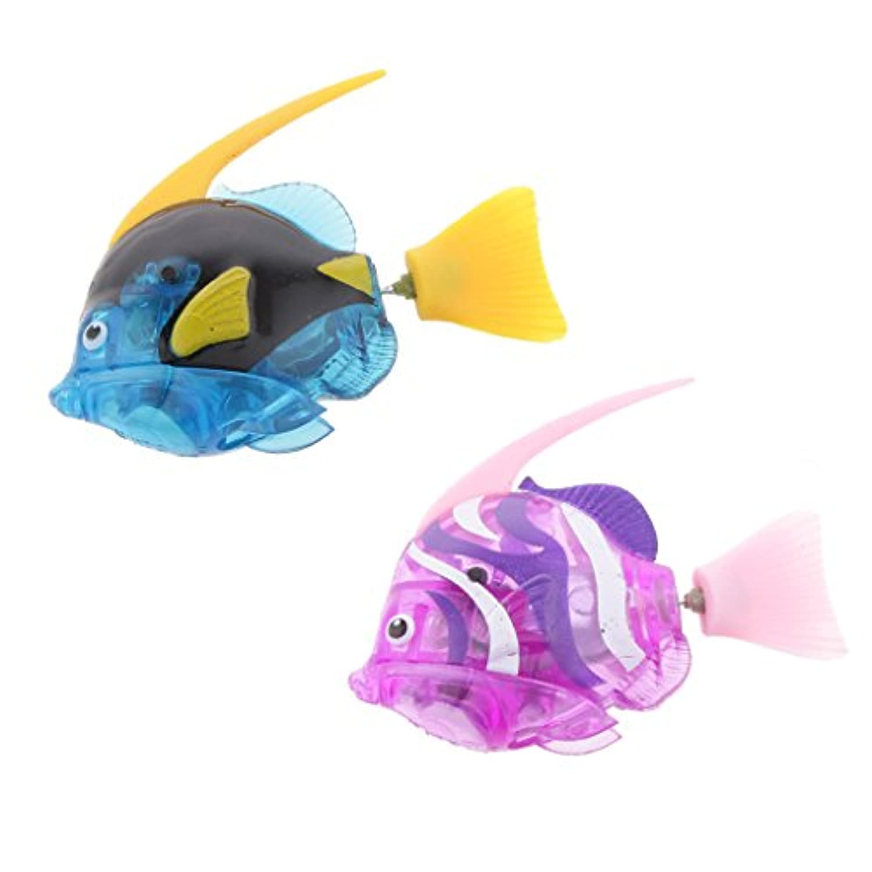 homyl 2pcsロボット魚水泳Sea Horseランタン魚Shark Clownfish Battery Poweredロボット魚水楽しいおもちゃ c4e8517316f4f4c00b4cbc2cf542123e