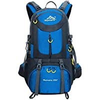 Hiking Backpack Nylon Waterproof Large Capacity Daypack for Outdoor Sports Travel Fishing Cycling Skiing Climbing Camping Mountaineering (Sky Blue-50L)