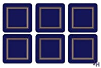 Pimpernel Classic Midnight Blue Coasters - Set of 6 by Pimpernel