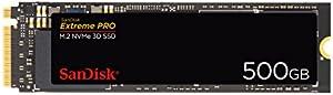 SanDisk 内蔵SSD M.2-2280 / 500GB / SSD Extreme Pro / PCIe Gen3 NVMe / 5年保証 /SDSSDXPM2-500G-J25