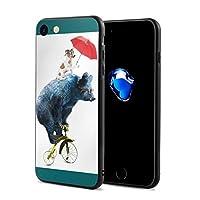 ベア 犬 ゲーム 傘 サイクリング IPhone7/8 ケース スマホケース 落下防止 カバー リング付き 全面保護 携帯カバー 携帯ケース 超薄 超軽量 衝撃 おしゃれ 男女兼用