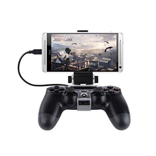 J-KONKY PS4コントローラー用スマホマウントホルダー 6インチまでのAndroidホスト対応 PS4コントローラーにスマホをドッキングできるスマホホルダー