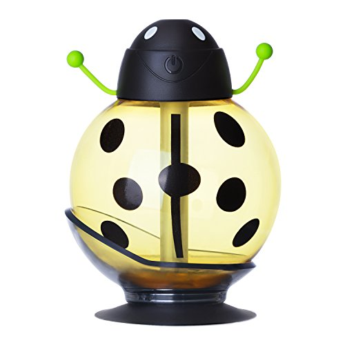 BIENNA ミニ加湿器 USB給電 超音波 静音 ペットボトル加湿器 小型卓上加湿器 LED付き 空焚き防止機能 家庭用 オフィス用 車載用 旅行用 携帯式 省エネ 輻射ゼロ ビールト型 三色入れ(イェロー)