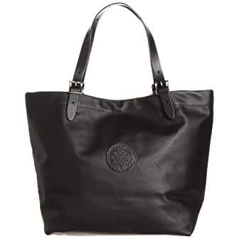 Leather Market Tote L-130: Black