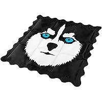 Ouhekiei ひんやりクッション ひんやり座布団 冷感クッション シートクッション 冷え冷え敷きパッド 清涼シート ひんやり 冷たいパッド 冷感マット 涼感パッド 冷えマットシートクッション 椅子パッド ペットソファ枕 車サドルコンピュータとペット 熱中症 暑さ対策 防水 强耐圧性 ハスキー犬の柄 いす オフィス くるま用 折畳可(36 * 36cm)