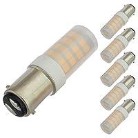 LEDwholesalers ba15dベースOmnidirectional 3.5-watt LED Light Bulb with半透明カバー12V AC / DC etl-listed6パック、暖かいホワイト3000K、14404wwx6